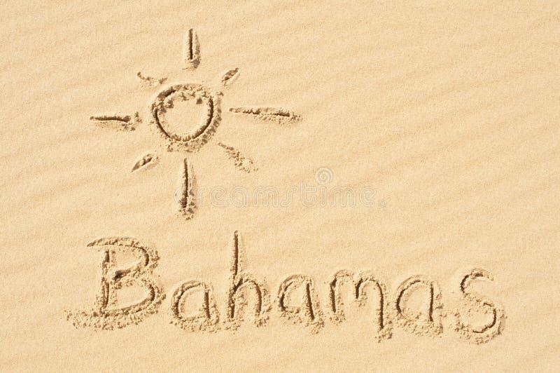 Bahamas im Sand lizenzfreie stockfotos
