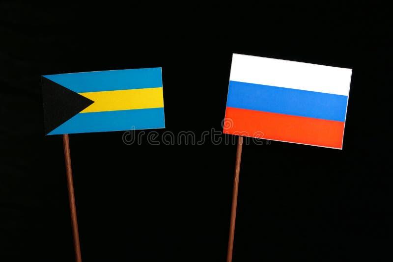 Download Bahamas Kennzeichnen Mit Der Russischen Flagge, Die Auf Schwarzem Lokalisiert Wird Stockfoto - Bild von regierung, kultur: 96932948