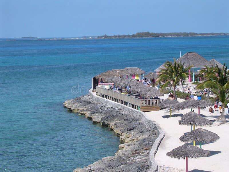 bahamas kust royaltyfri bild