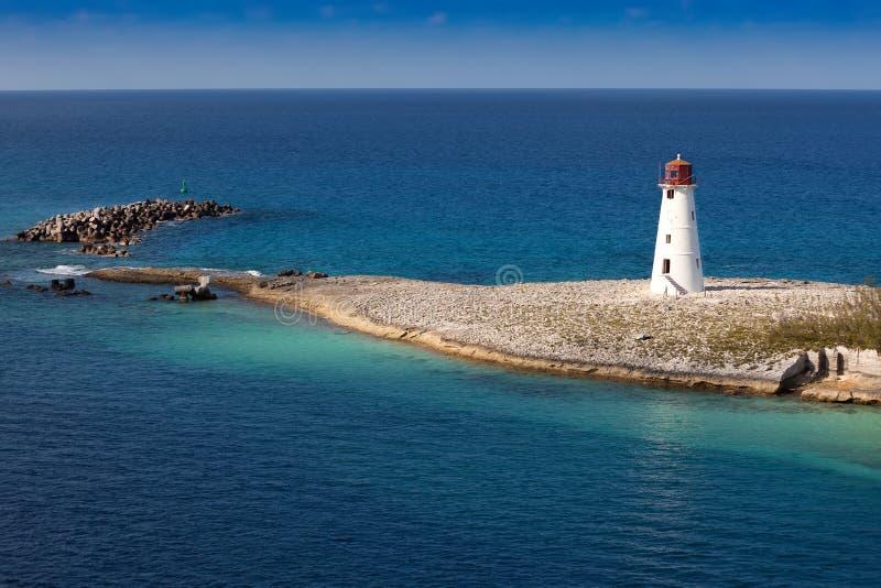 bahamas latarnia morska Nassau zdjęcia royalty free