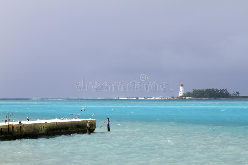 Bahamas Lighthouse royalty free stock photo