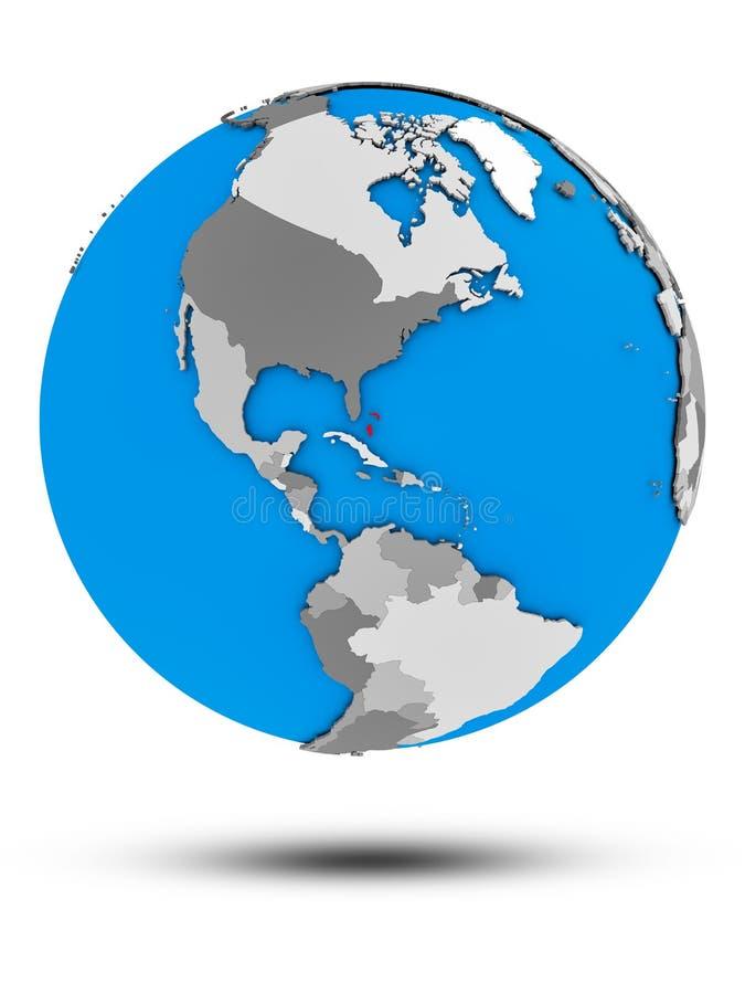 Bahamas na politycznej kuli ziemskiej odizolowywającej ilustracji