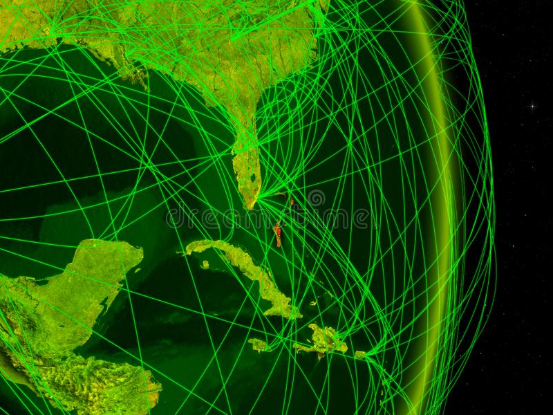Bahamas na terra digital ilustração royalty free