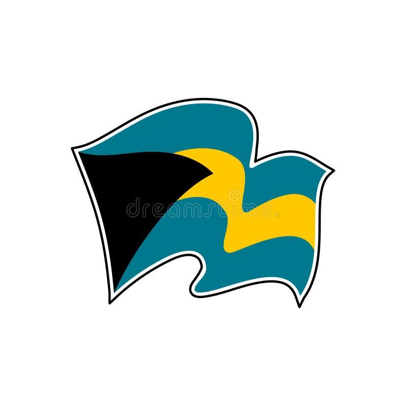 The Bahamas national flag. Vector illustration. Nassau. The national flag of The Bahamas. Vector illustration. Nassau stock illustration
