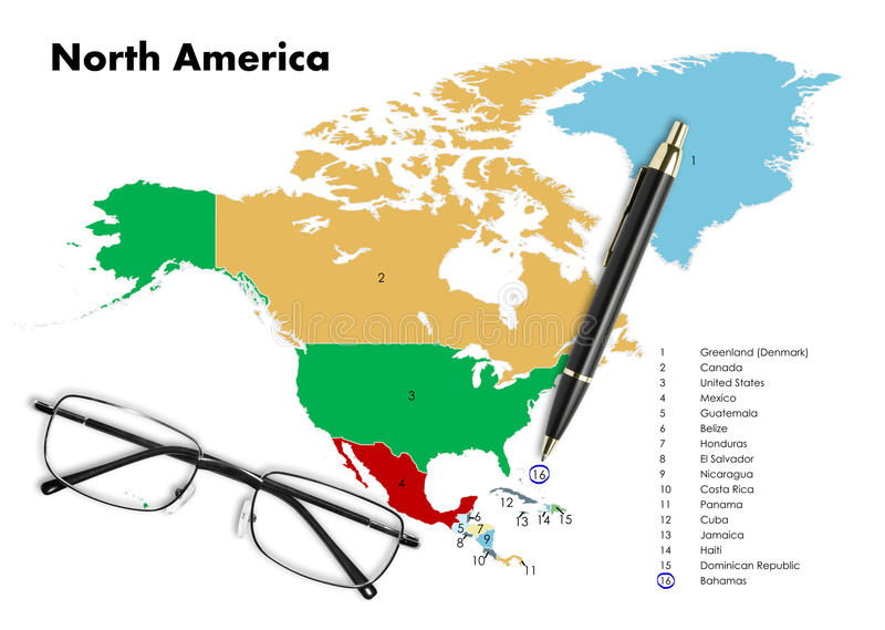 Bahamas On North America Map Stock Photo Image of destination