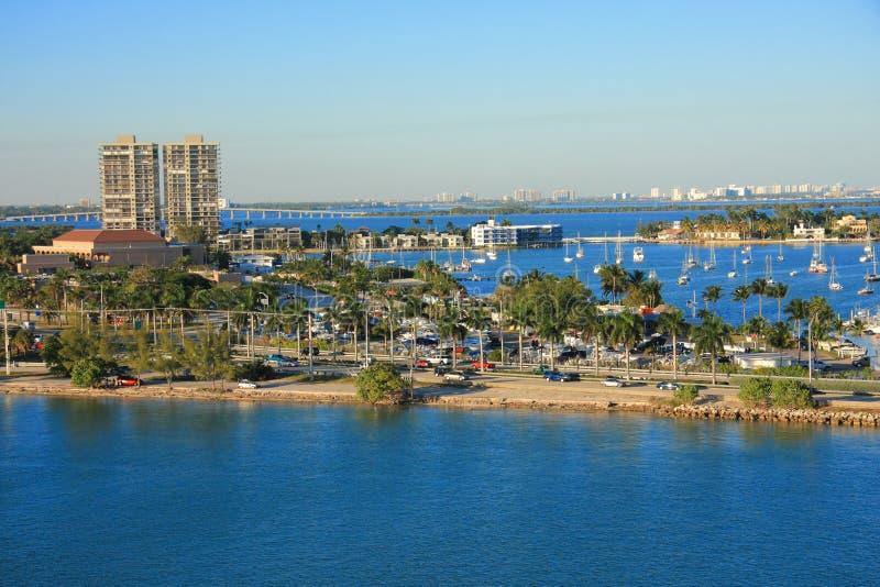 Bahamas pier. Landscape in Nassau city , Caribbean royalty free stock photography
