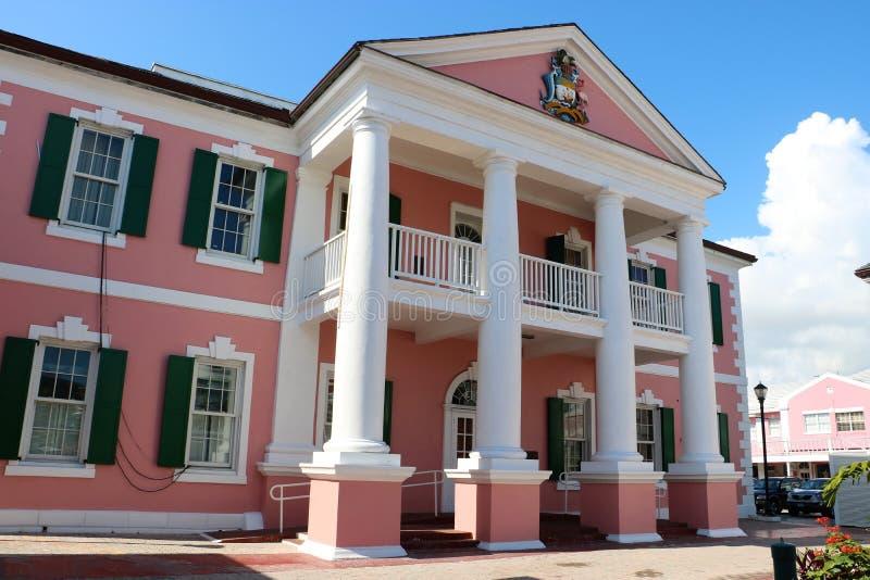 Bahamas-Senatsgebäude lizenzfreie stockfotos