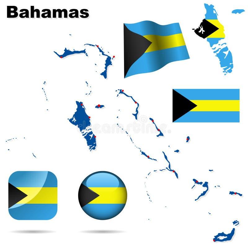 Bahamas vector o jogo. ilustração royalty free