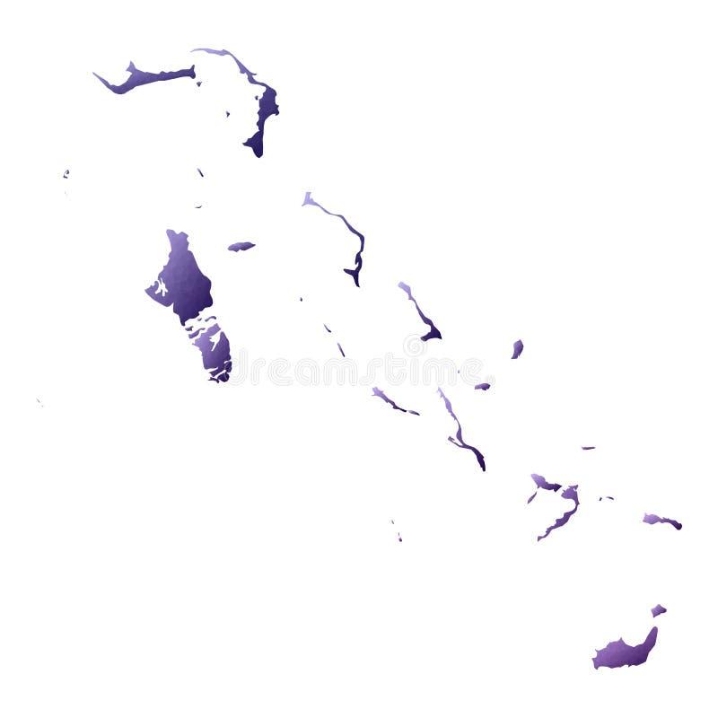 Bahamas ?versikt stock illustrationer
