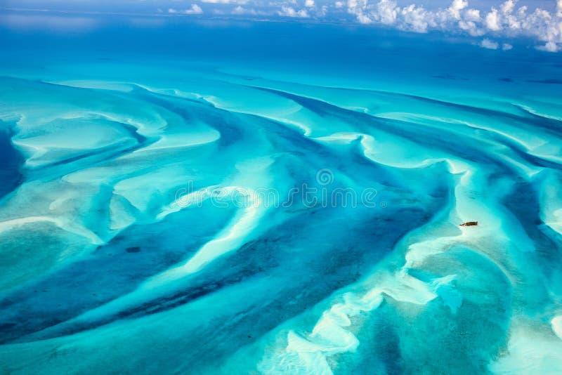 Bahamas von der Luft lizenzfreie stockbilder