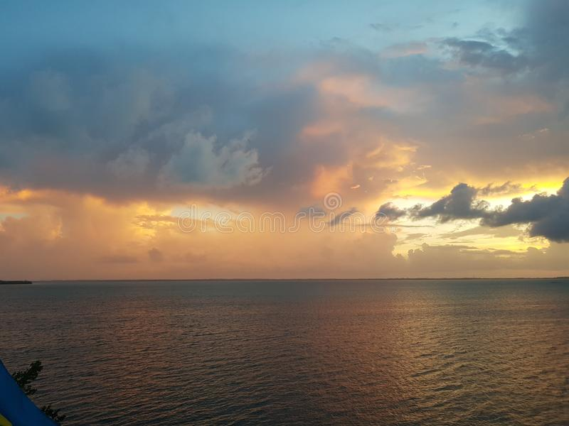 Bahamian Sunset royalty free stock photos