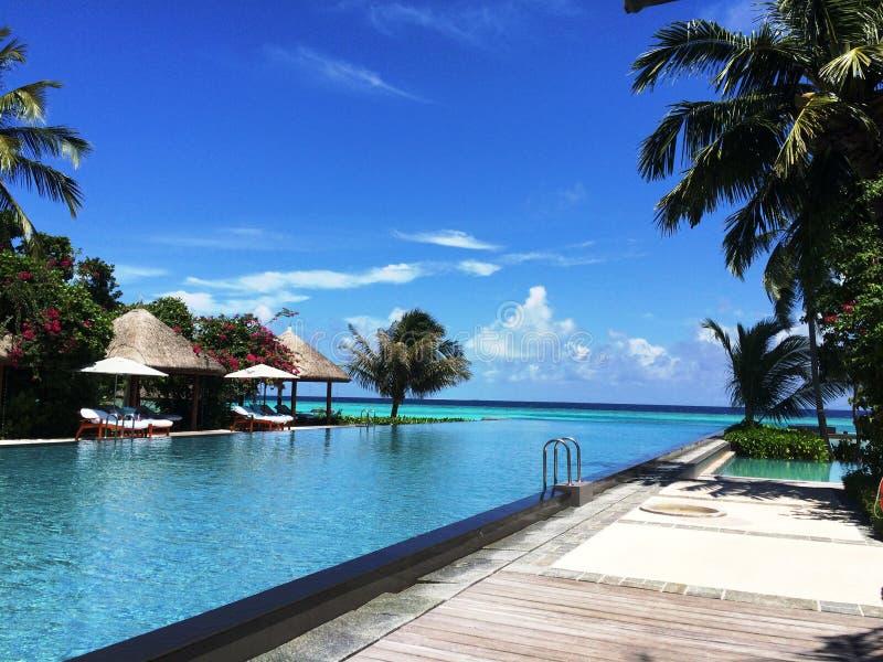 Bahamian wyspy Maldives ty piękny krajobraz fotografia royalty free