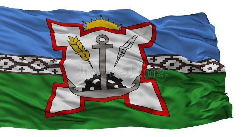 Bahia Blanca City Flag, Argentina, isolata su fondo bianco illustrazione di stock