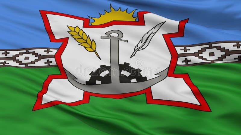 Bahia Blanca City Flag, Argentine, vue de plan rapproché illustration libre de droits