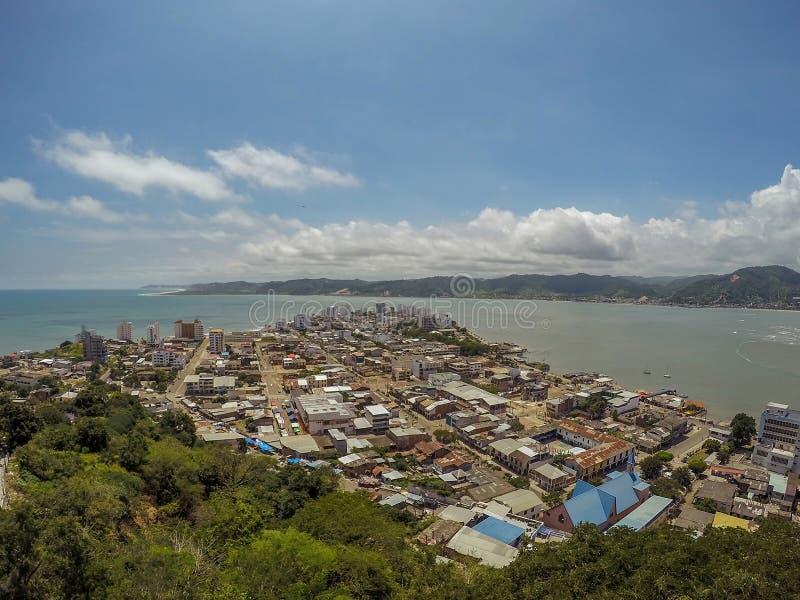 Bahia De Caraquez, als San Antonio De Caraquez officieel wordt bekend dat royalty-vrije stock foto's