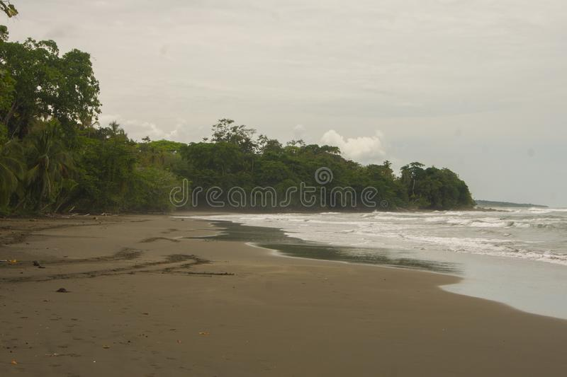 Bahia Drake Beach view, Landscape from Costa Rica. Amerique Centrale royalty free stock photo