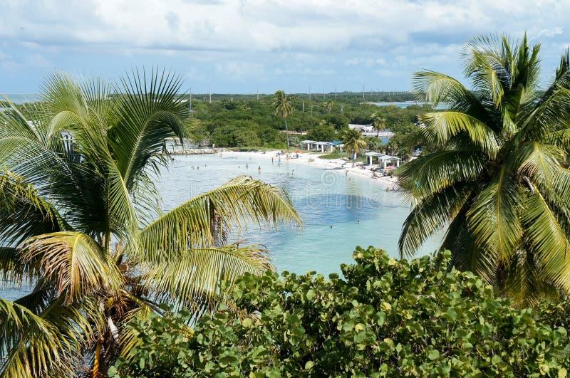 Bahia Honda Bay Beach en la Florida imagen de archivo