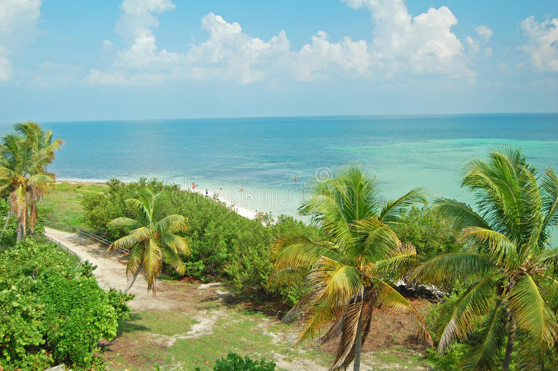 Bahia Honda beach. View of Bahia Honda beach in the Florida Keys stock photo