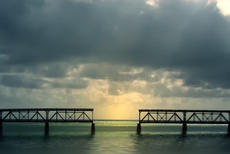 Bahia Honda Bridge royalty free stock images