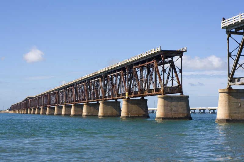 Bahia Honda Rail Bridge royalty free stock photography
