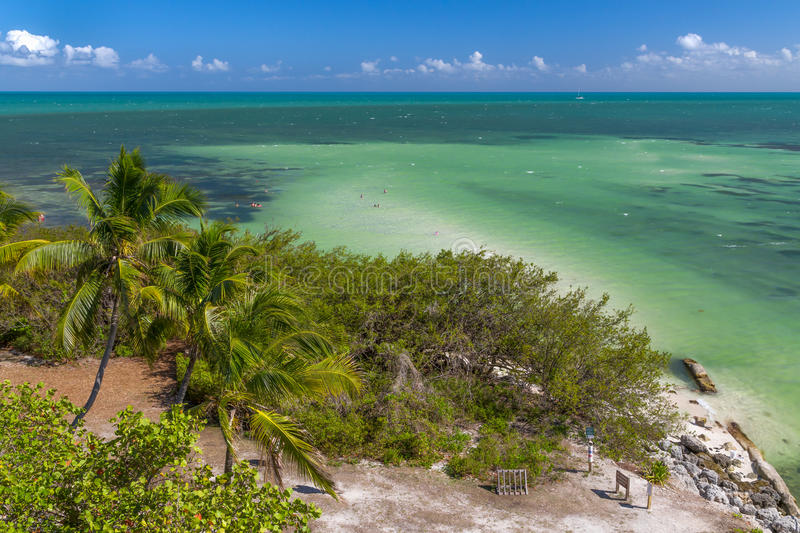 Bahia Honda State Beach Panorama royalty-vrije stock foto