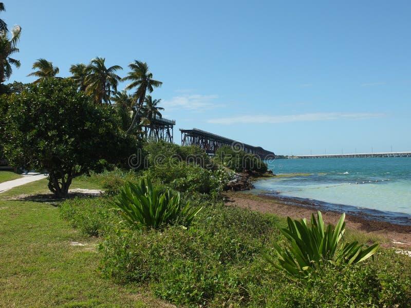 Bahia Honda State Park Bridge arkivbilder