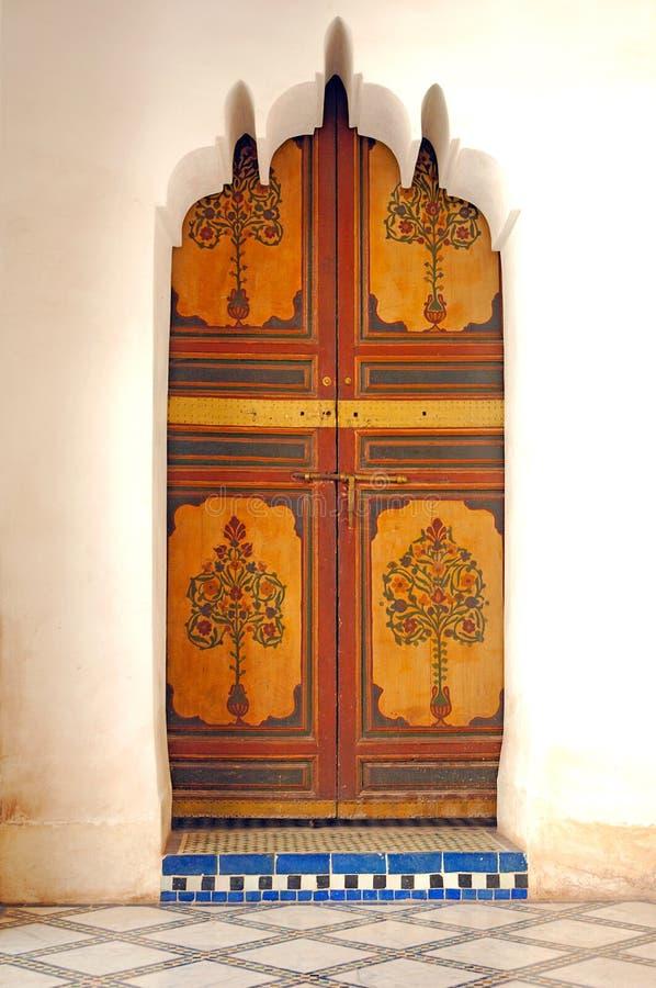 bahia marrakech marrakesh morocco slott fotografering för bildbyråer