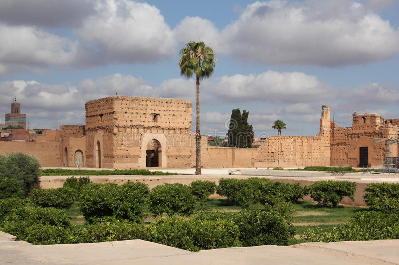 Bahia palace, Marrakesh Morocco stock image