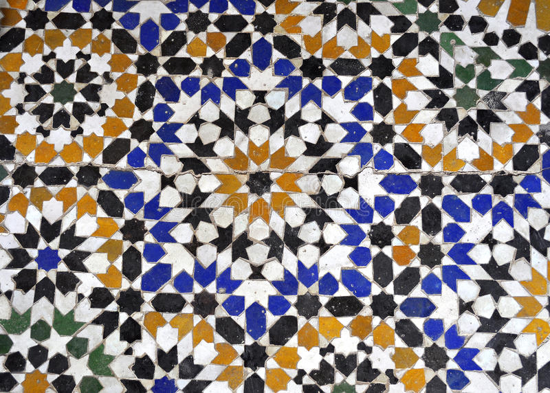 Download Bahia palace mosaique stock photo. Image of morocco, architecture - 28474644