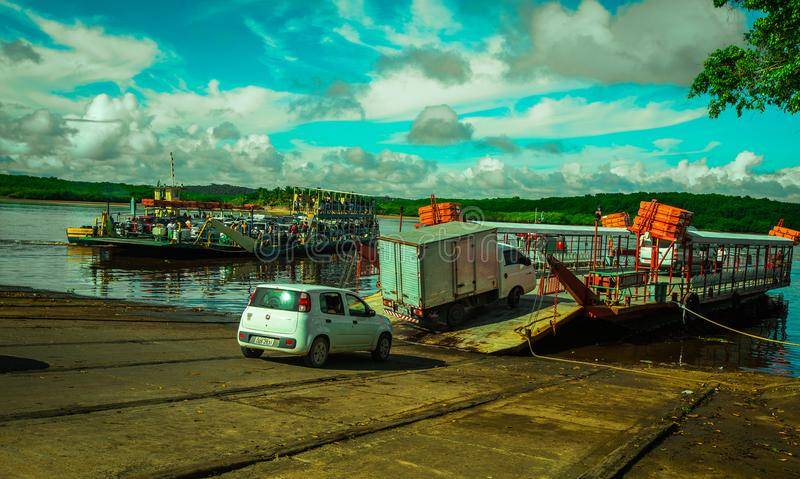 Bahia Porto Seguro Ferry lizenzfreie stockfotos