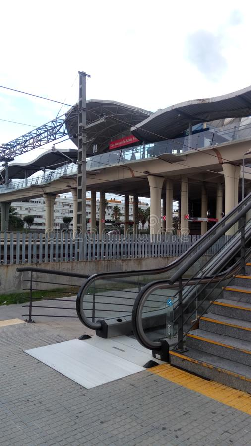 Bahia Sur train station royalty free stock photo