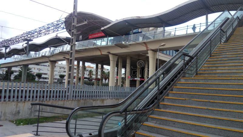 Bahía Sur train station in San Fernando stock images