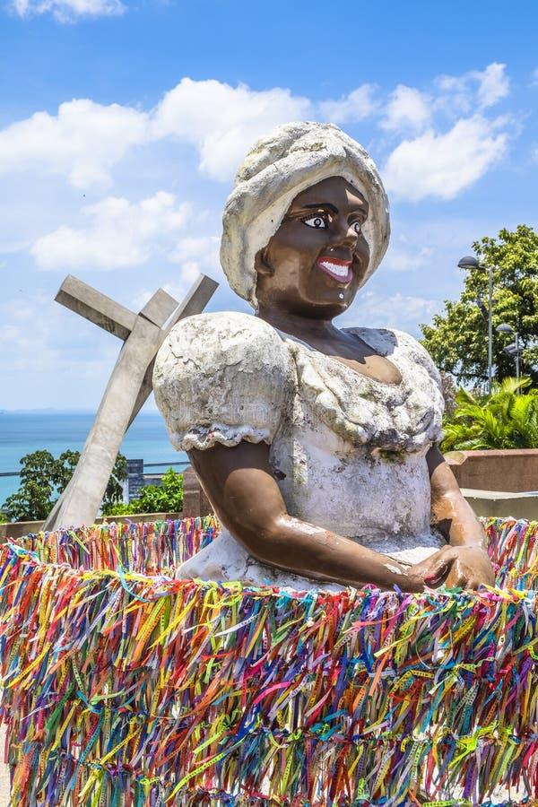 Bahiana sculpture in Pelourinho district. In Salvador do Bahia Brazil stock photos