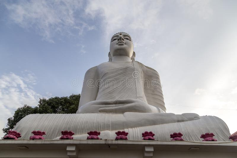 Bahirawakanda Vihara菩萨雕象在康提,斯里兰卡 库存图片