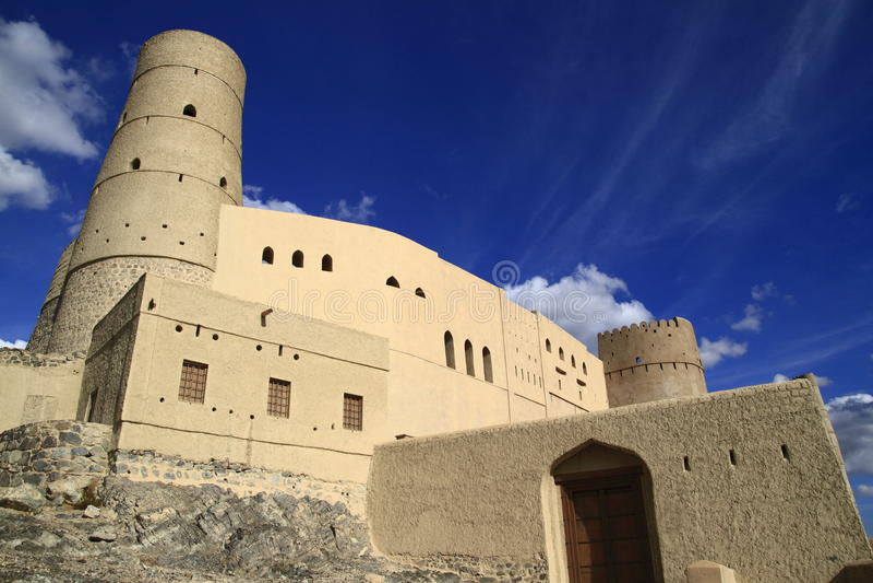 Bahla堡垒 免版税库存照片