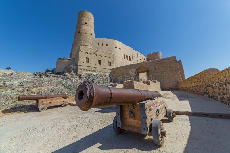 Bahla fort, i Bahla, Oman royaltyfri foto