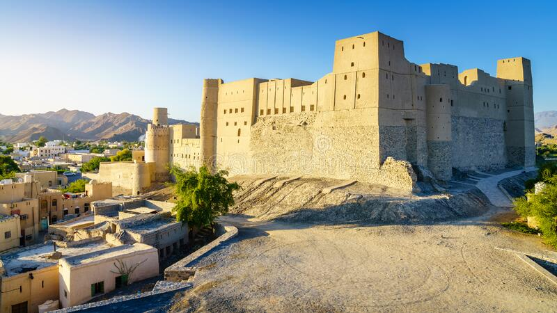 Bahla Fort in Oman stock photos