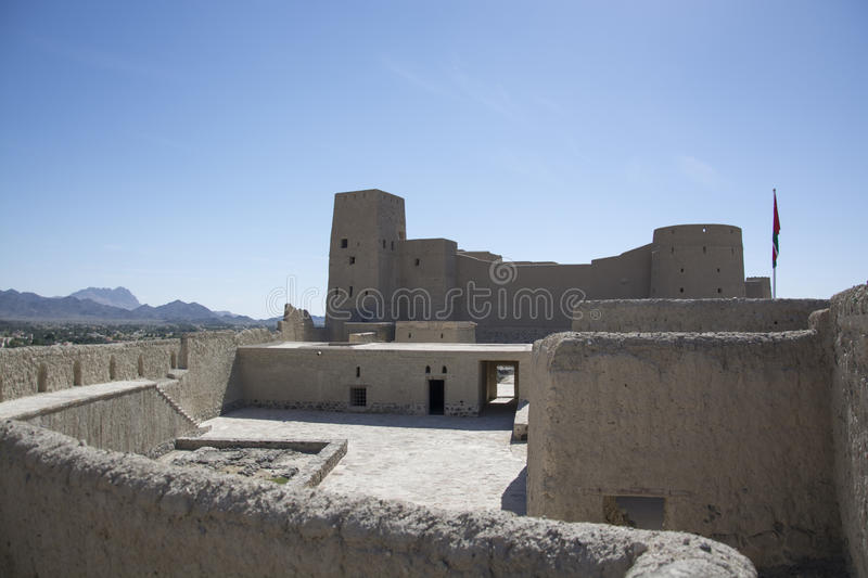 Bahla Fort Oman with tower royalty free stock images