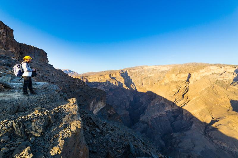 View of Jebel Shams in Oman royalty free stock image