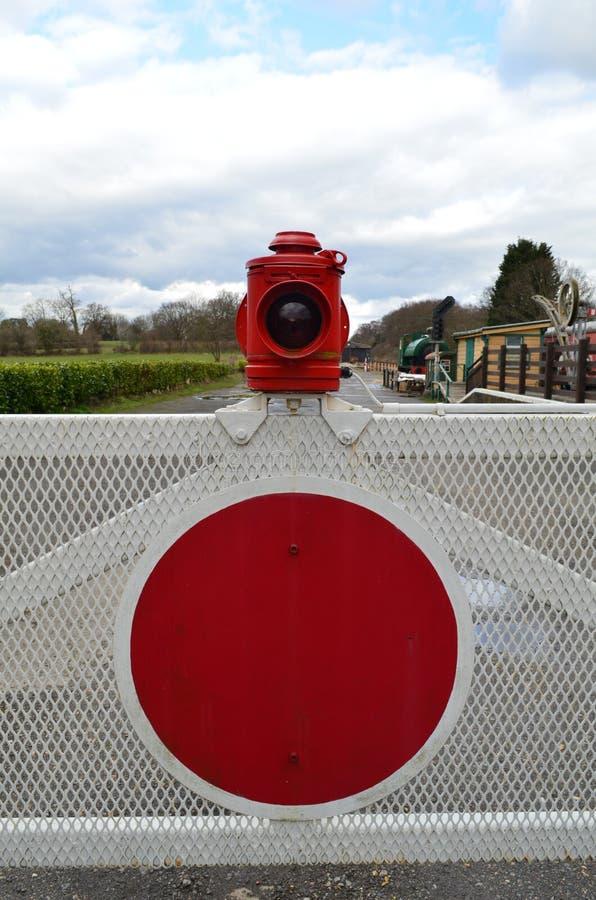 Bahnübergang Tor. stockfotografie