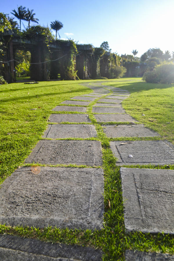 Bahn im botanischen Garten lizenzfreie stockfotos