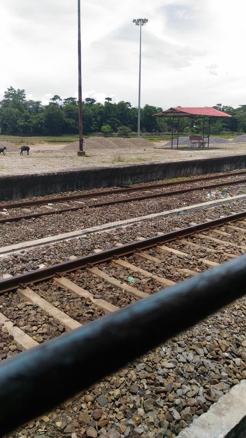 Bahn-Indien neu stockbild