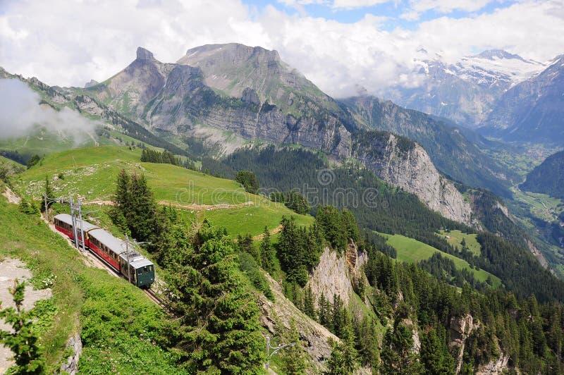 Bahn Schynige platte. Швейцария. стоковое фото