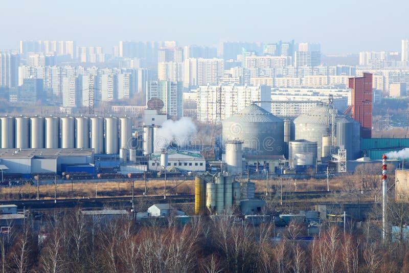 Bahn- und Industriegebiet in Tsaritsyno-Bezirk lizenzfreies stockfoto
