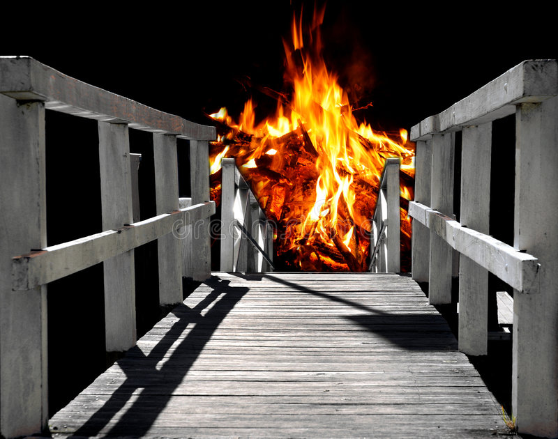 Bahn zur Hölle lizenzfreies stockfoto