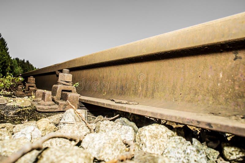 Bahnabstellgleisdetails 015-130509 stockbild