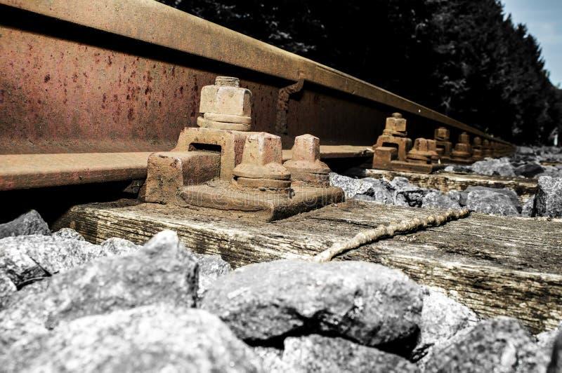 Bahnabstellgleisdetails 018-130509 stockbild