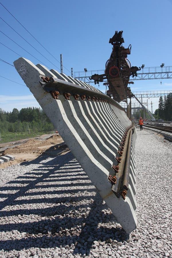 Bahnaufbau lizenzfreie stockbilder