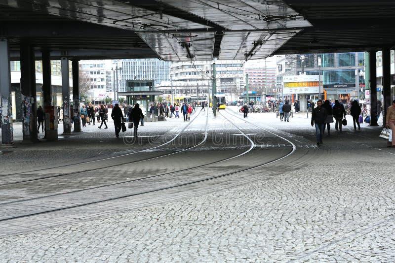 Bahnbögen Alexandriaplatz, Berlin, Deutschland stockbilder
