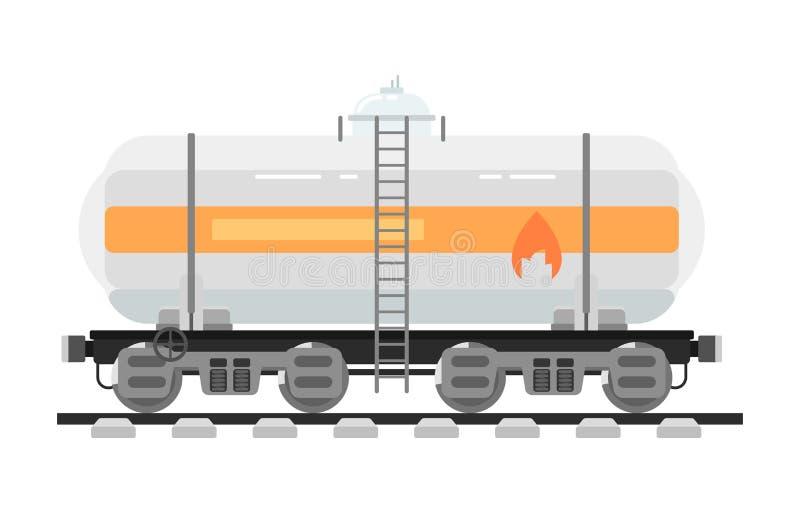 Bahnbehälter lokalisiert auf weißem Hintergrund stock abbildung
